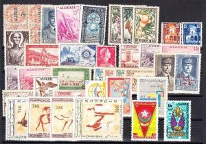 Algeria - Mint NH, nice lot of all complete sets (Catalog Value $81.10)
