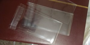 FREE SHIPPING Glassine alternative - (100)Poly Bags OPP 3x5 USED FOR MOUNTS