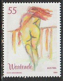 2004 Austria - Sc 1970 - MNH VF - 1 single - Woman Waiting by Gredenberg