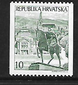 CROATIA, 124, MINT HINGED, STATUE OF KING TOMISLAV