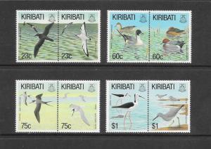 BIRDS - KIRIBATI #599-606   MNH