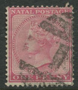 NATAL - Scott 51 - QV Definitive - 1874 - Used - Wmk 1 - Perf.14 - 1p Stamp