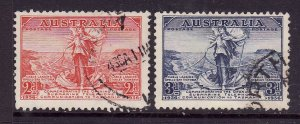 Australia-Sc#157-8-used set-Cables joined-1936-