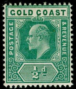 GOLD COAST SG59, ½d dull green, LH MINT. Cat £12.