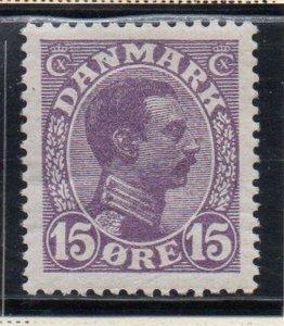 Denmark Sc 102 1913 15 ore violet Christian X  stamp mint
