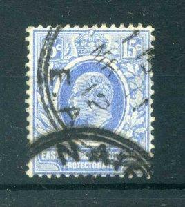 East Africa Uganda 1907 EDVII 15c blue SG 39 used