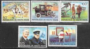 Burkina Faso #346-350 Churchill (U) CV $2.55