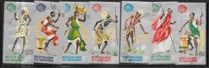 Burundi #88a-94b  Dancers  ((CTO) CV2.00