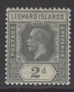 LEEWARD ISLANDS SG65 1922 2d SLATE-GREY MTD MINT