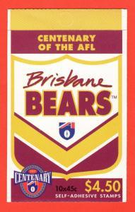AUS SC #1509a MNH BKLT (w/Pane/10) 1996 Australian Football League (New Melbourn