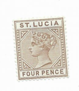 St Lucia #33a MH - Stamp CAT VALUE $47.50