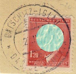 BÖHMEN u. MAHREN - 1943  DATSCHITZ-IGLAU  TPO n°547a bilingual CDS on Mi.96