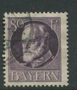 Bavaria -Scott 108 - King Ludwig III -1914-20 - Used - Single 80pf Stamp