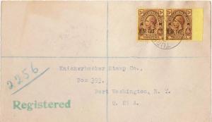 Turks & Caicos Is. 3d KGV Overprinted War Tax (2) 1917 Turks Islands Register...