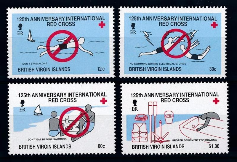[71270] British Virgin Islands 1988 Red Cross Swimming  MNH