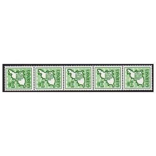 Guernsey 380 Streifen mit 5/Nummer, Mnh.michel 482. Minimum To UK