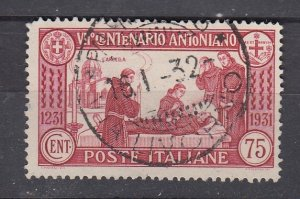 J29702, 1931  italy used  #263  st anthony death