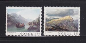 Norway 633-634 Set MNH Art, Paintings (B)