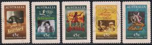 Australia 1446-1450 Used - Cinema