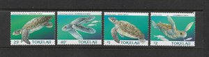TURTLES - TOKELAU #217-20  MNH