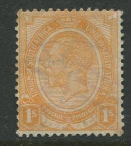 South Africa - Scott 11 - KGV - 1913 - FU - Single 1/- Stamp
