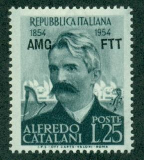 Trieste #201  Mint  VF NH  Scott $3.25  Alfredo Catalani,...