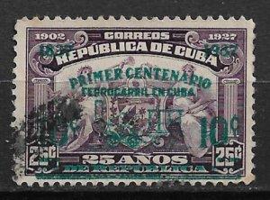 1937 Cuba 355 Railroads in Cuba 100th Anniversary used