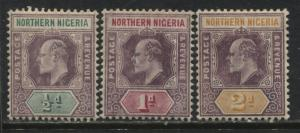 Northern Nigeria KEVII 1906 1/2d to 2d on chalky paper mint o.g.