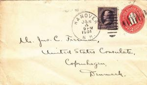 1901, Hanover, NH to US Consulate, Denmark, See Remark (2145)