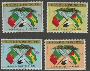 St. Thomas & Prince 411-4 * mint HR (2107 377)