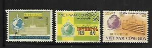 VIETNAM, 451-453,  MINT HINGED, INTERPOL HEADQUARTERS