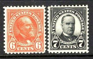 [GF]    US #558-9 ~ Mint-NH 1922 Flat Press ~ Perf 11..Rich Color..Ships Free