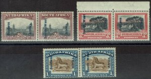 SOUTH WEST AFRICA 1927 PICTORIAL 2D 3D AND 1/- PAIRS