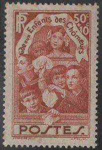 FRANCE Scott B46 MH* Adhesion in gum 1936 semi postal stamp
