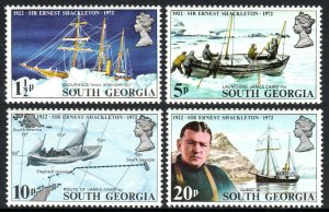 South Georgia 31-34, MNH.Sir Ernest Shackleton,explorer of Antarctica.Ships,1972