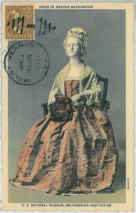 37243    MAXIMUM CARD - USA : MARTHA WASHINGTON 1952