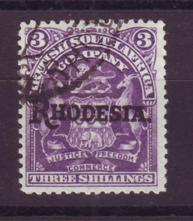 J17075 JLstamps 1909 rhodesia used #95 ovpt