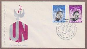 Suriname # 301 - 302 Dag Hammarskjold FDC - I Combine S/H