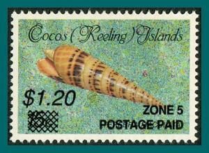 Cocos 1991 Surcharge $1.20, MNH 233,SG239