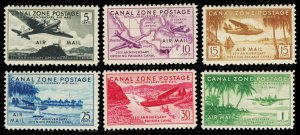 CANAL ZONE C15-20  Mint (ID # 99474)