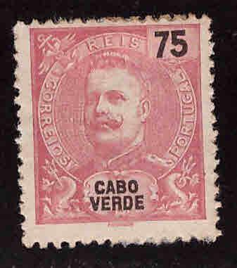 Cabo Verde Cape Verde Scott 47 MH* adhesion King Carlos from 1898-1903 set