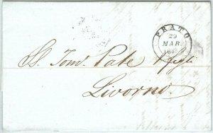 71946 - REGNO - Storia Postale - BUSTA prefilatelica da PRATO a LIVORNO  1853