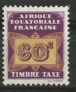 French Equatorial Africa # J8 Postage Due - Butterfly 60c (1) Unused VF