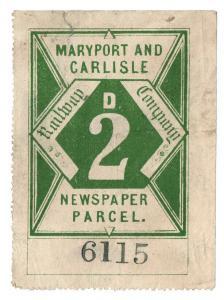 (I.B) Maryport & Carlisle Railway : Newspaper Parcel 2d
