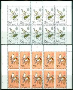 CAYMAN ISLANDS : 1974. Scott #322-27 Birds. 10 Complete sets. VF MNH Cat
