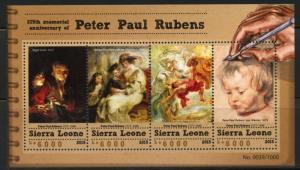SIERRA LEONE 2015 375h MEMORIAL ANNIVERSARY OF PETER PAUL RUBENS SHEET  MINT NH