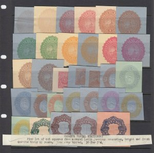 SEEBECK Postal Stationary group of cut squares