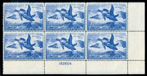 momen: US Stamps #RW19 Mint OG NH Plate Block of 6 XF