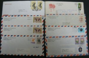 CHINA - ROC GROUP OF 12 COVERS WITH MOSTLY DIFFERENT STAMPS