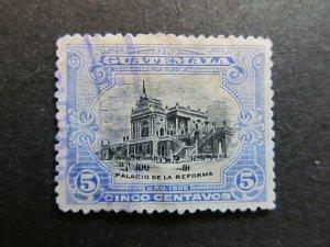 A4P10F26 Guatemala 1902 5c used